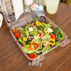 1000 CASE 8 x 8 x 3 Clear Hinged Lid Plastic Food Deli Clamshell Container