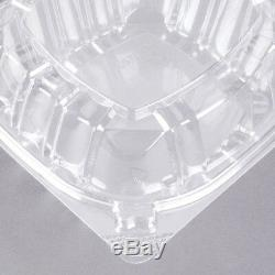 1500 CASE Dart 6 Clear Hinged Lid Plastic Food Deli To Go Clamshell Container
