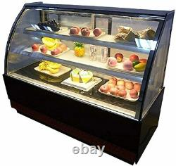 220V Refrigerated Display Showcase Pastry Deli Case Shelf Load 33Lbs Wooden Pack