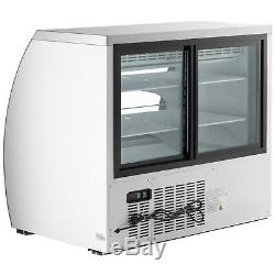 47 White Floor Model Refrigerated Deli Seafood Bakery Meat Pastry Display Case