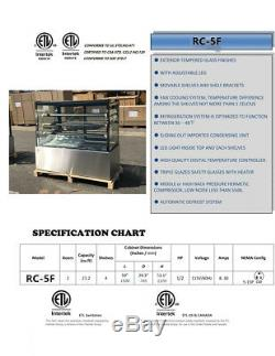 60 Commercial Glass Refrigerated Deli Bakery Display Case NSF Cooler Depot New