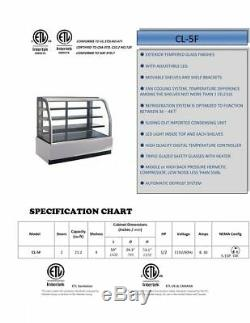 60 Deli Case Bakery Display Case Curved Glass Refrigerated NSF ETL Cooler Depot