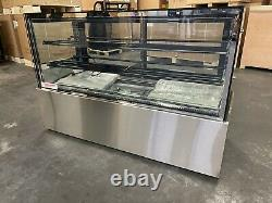 Bakery Display Case Refrigerator Show Case Pastry 72 Display Deli 6 Cake New