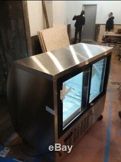 Curved 48 Glass Merchandiser refrigerated food deli meat display case