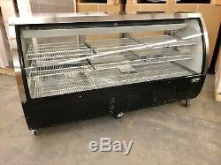 Deli Case New 72 82 black glass Refrigerated Display Bakery Pastry Meat
