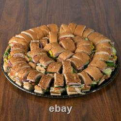Deli Tray 18 50/Case Coated Corrugated Black Catering FREE & FAST SHIPPING
