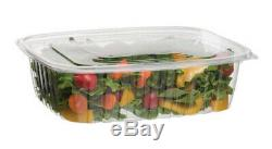 Eco-Products 48-oz. Compostable Rectangular Deli Container with Lid / 200-ct. Case