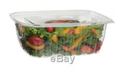 Eco-Products 64-oz. Compostable Rectangular Deli Container with Lid / 200-ct. Case