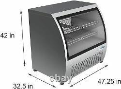 KoolMore 47 Deli Case Display Stainless Steel Commercial Refrigerator RD18C-SS