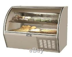 Leader 72 Commercial Curved Glass Counter Deli Case (Refrigerated)