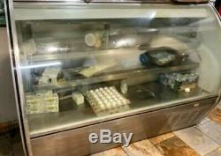 Leader 72 Commercial Curved High Glass Display Deli Case (Refrigerated)