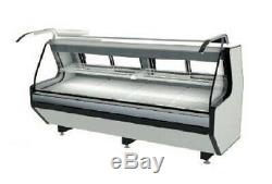Lift Front Glass Meat Deli Case LED Lighthing Corrosion-Resistant Steel Interior