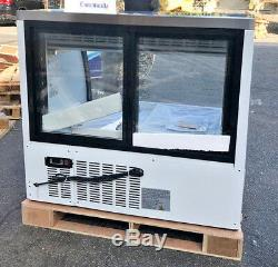 New 48 All S/s Commercial Refrigerated Curved Glass Display Deli Case Nsf
