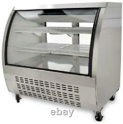New 48 Small Curved Glass Deli Case Meat Or Seafood Showcase
