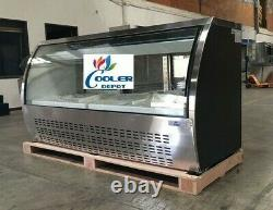 New 82 Commercial S/s Refrigerated Curved Glass Display Deli Case Nsf