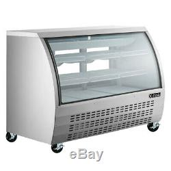 New Deli Case 65 SHOW CURVED GLASS REFRIGERATOR DISPLAY CASE Bakery Pastry MEAT