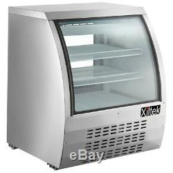 New Xiltek 36 Deli Case Display Case Show Case All Stainless Curved Glass
