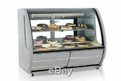 Refrigerated 56 Stainless Steel Deli Display Case Color & Shelving Curve Glass