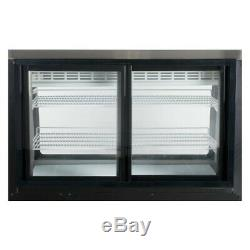 Small 48 Curved Glass Refrigerated Deli Display Case Black