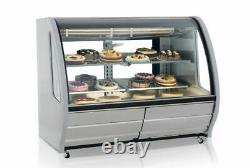 Stainless Refrigerated Deli Display Case 56 Double Pane Side Window LED Light
