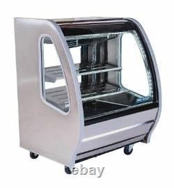 Stainless Steel Refrigerated Deli Display Case Gravity Cooling Shelving Double