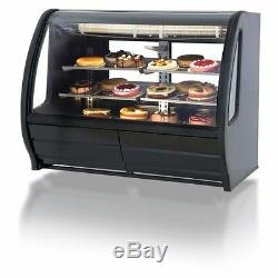 Torrey 74 Prokold Curved Glass Black Deli Bakery Display Case Refrigerated