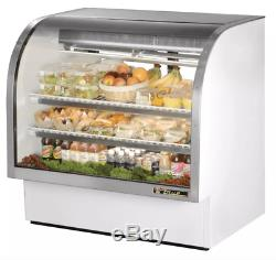 True TCGG-48-LD 48 Full Service Deli Case with Curved Glass (3) Levels, 115v