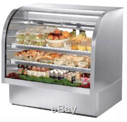 True TCGG-48-S-LD 48 Full Service Deli Case with Curved Glass (3) Levels, 115v