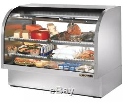 True TCGG-60-S-LD 60 Full Service Deli Case with Curved Glass (3) Levels, 115v