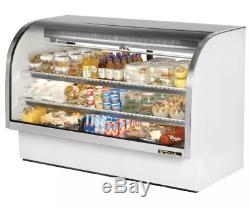 True TCGG-72-LD 72 Full Service Deli Case with Curved Glass (3) Levels, 115v
