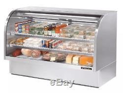 True TCGG-72-S-LD 72 Full Service Deli Case with Curved Glass (3) Levels, 115v