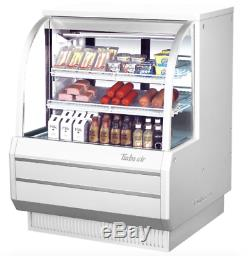 Turbo Air TCDD-48H-W-N 48 1/2 Full Service Deli Case with Curved Glass (3) Leve