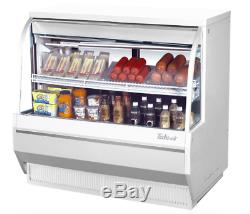 Turbo Air TCDD-48L-W-N 48 1/2 Full Service Deli Case with Curved Glass (2) Leve