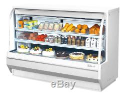 Turbo Air TCDD-72H-W-N 72 1/2 Full Service Deli Case with Curved Glass (3) Leve