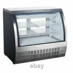 Universal FCI-48-SC 48 Refrigerated Deli Meat Display Case, Curved Glass, Stain